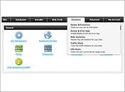Hepsia - Control Panel navigation